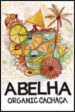 Abelha Organic Cachaça Limited Edition Label