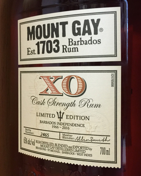 Mount Gay Cask Strength XO Rum